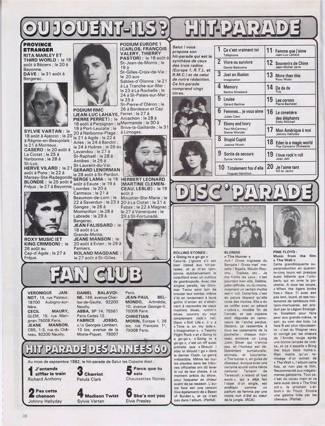 Discographie N° 80 LA SORTIE DE SECOURS - Page 3 19820823