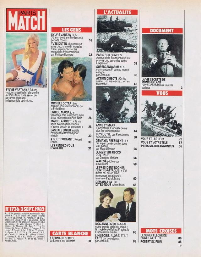 Discographie N° 80 LA SORTIE DE SECOURS - Page 3 19820910