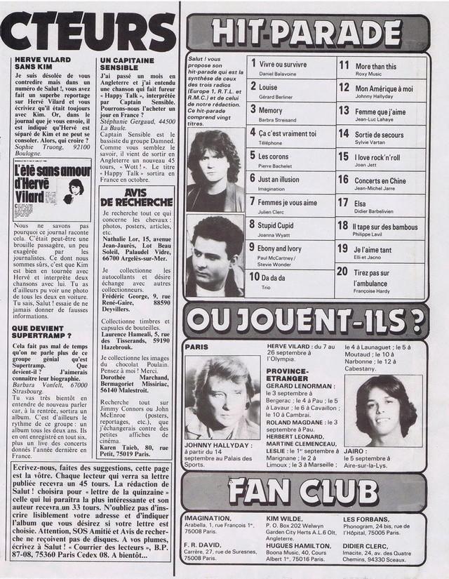Discographie N° 80 LA SORTIE DE SECOURS - Page 3 19820918