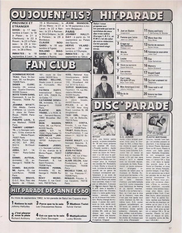 Discographie N° 80 LA SORTIE DE SECOURS - Page 3 19820922