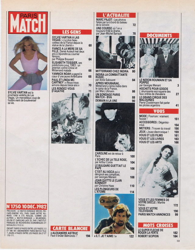 Discographie N° 81 MARATHON WOMAN - Page 2 19821212