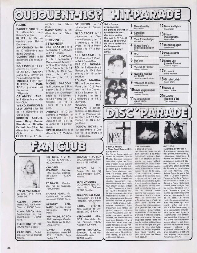 Discographie N° 81 MARATHON WOMAN - Page 2 19821224