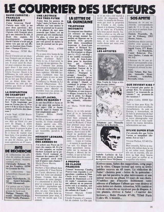Discographie N° 81 MARATHON WOMAN - Page 2 19821226