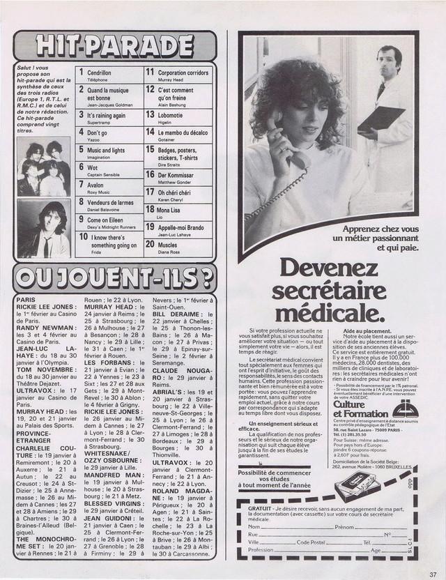 Discographie N° 81 MARATHON WOMAN - Page 2 19830122