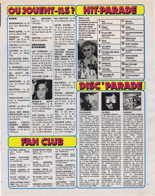 Discographie N° 81 MARATHON WOMAN - Page 2 19830412