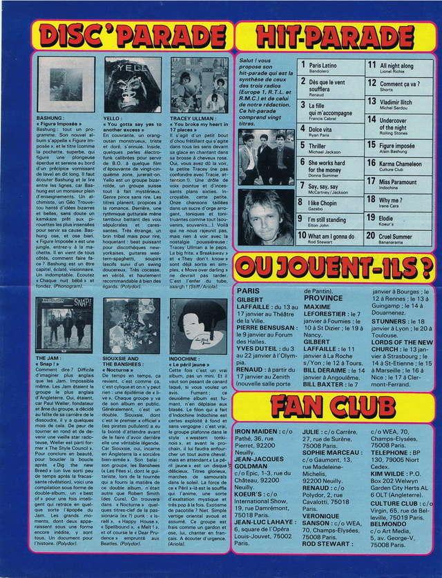 Discographie N° 83 : ENCORE / LE DIMANCHE - Page 3 19840112