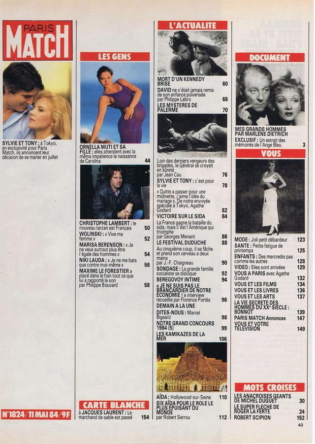 Discographie N° 84 Déclare l'amour comme la guerre - Page 5 19840521