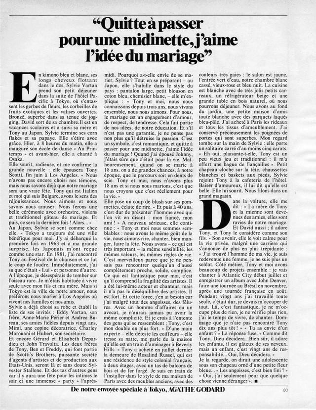 Discographie N° 84 Déclare l'amour comme la guerre - Page 5 19840523