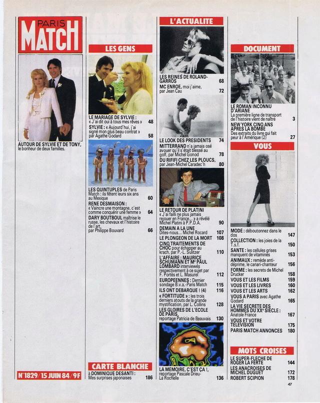 Discographie N° 84 Déclare l'amour comme la guerre - Page 5 19840612