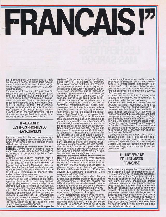 Discographie N° 89 RIEN A FAIRE - Page 3 19861113