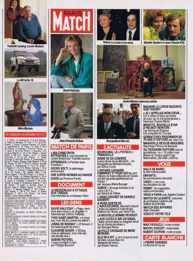 """Discographie N° 90 """"TU N'AS RIEN COMPRIS"""" - Page 3 19871116"""