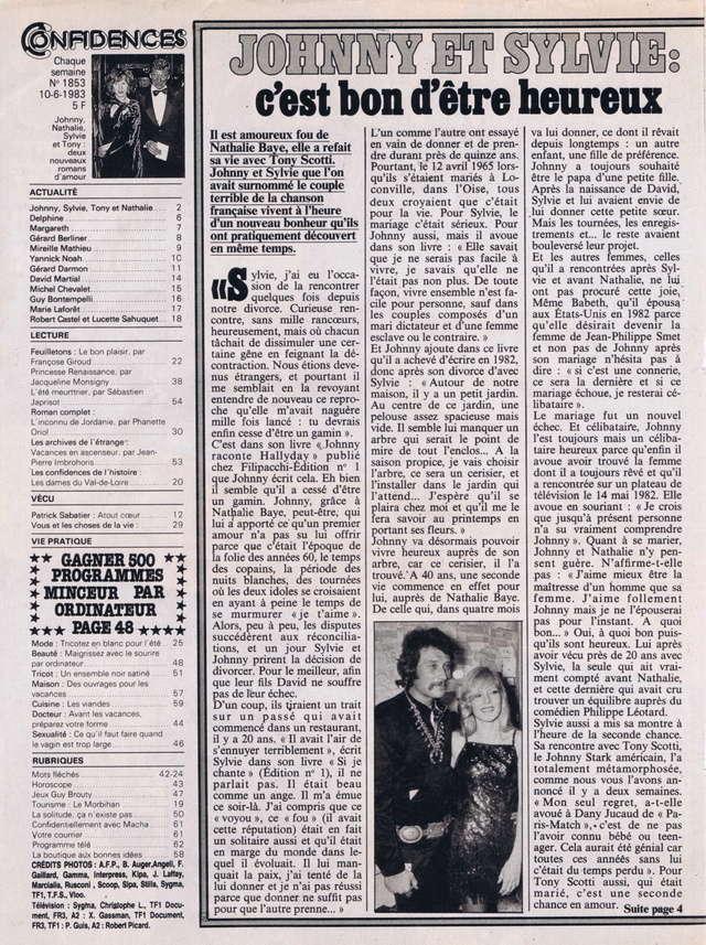 """Discographie N° 39 (COMPLEMENT) """"LA PREMIERE FOIS QU'ON S'AIMERA"""" - Page 2 Confid24"""
