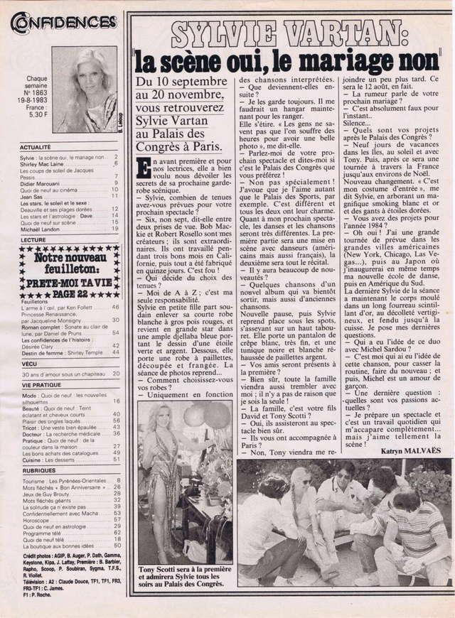 """Discographie N° 39 (COMPLEMENT) """"LA PREMIERE FOIS QU'ON S'AIMERA"""" - Page 3 Confid26"""