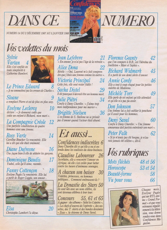 Discographie N° 91 FEMME SOUS INFLUENCE - Page 2 Confid50