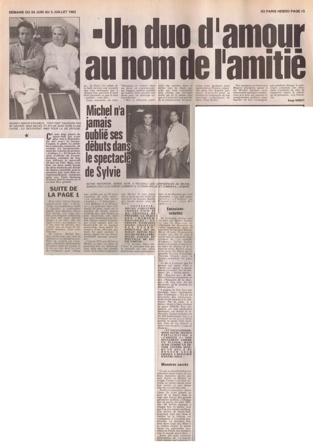 """Discographie N° 39 (COMPLEMENT) """"LA PREMIERE FOIS QU'ON S'AIMERA"""" - Page 3 Ici_pa14"""