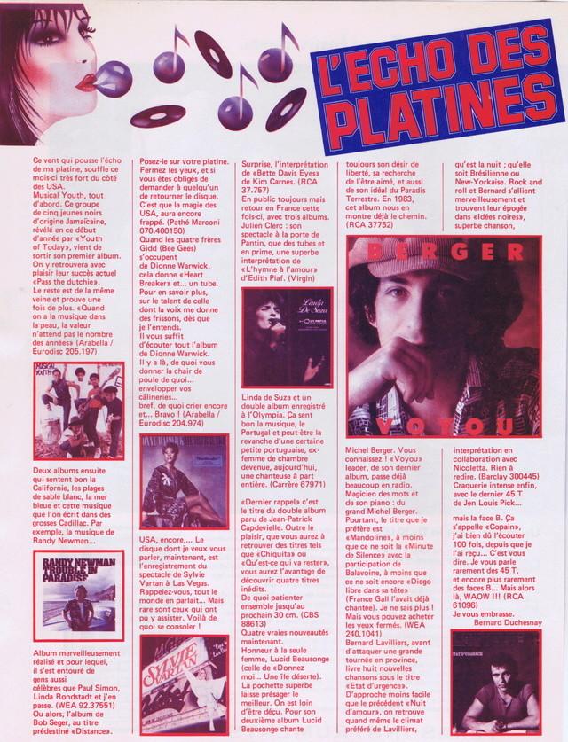 """Discographie N° 39 (COMPLEMENT) """"LA PREMIERE FOIS QU'ON S'AIMERA"""" - Page 4 Podium96"""
