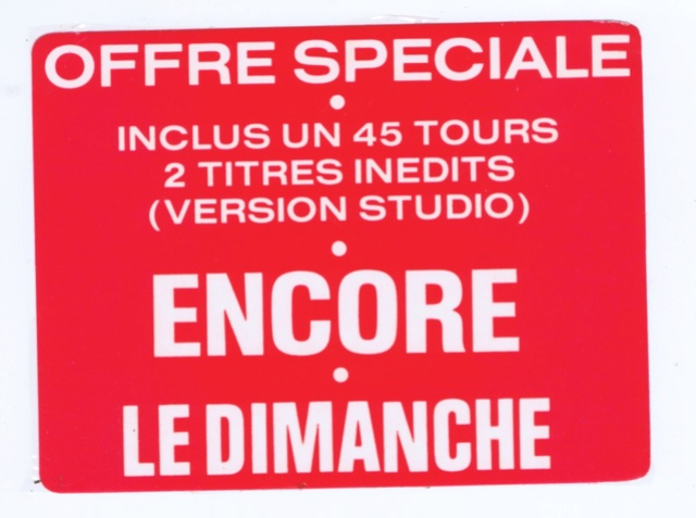 Discographie N° 83 : ENCORE / LE DIMANCHE Scan0011