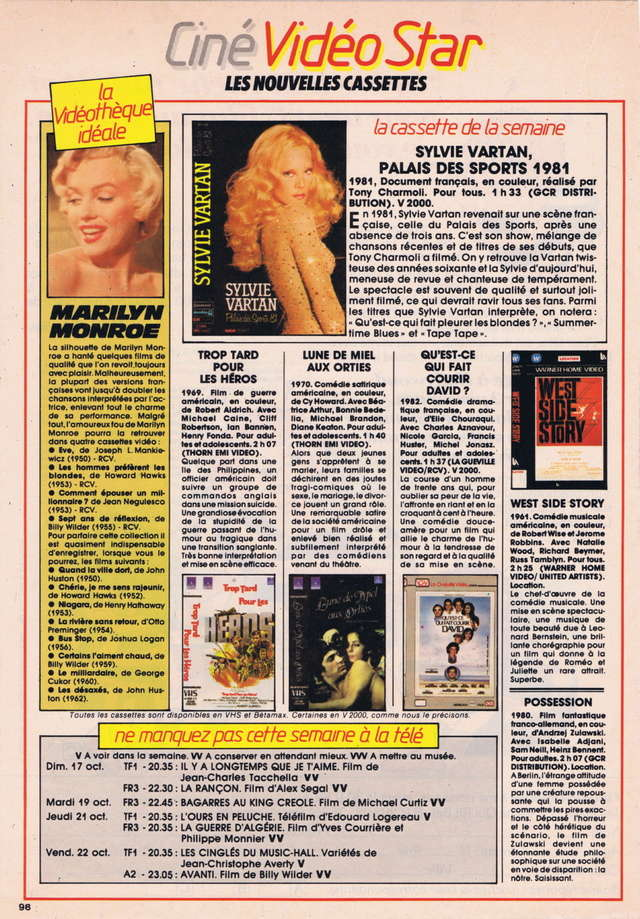 Discographie N° 81 MARATHON WOMAN - Page 3 Tele_s19
