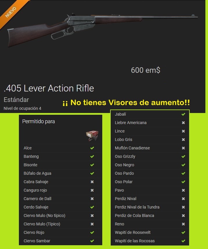 COMENTARIOS DE ARMA PARA CAZA MAYOR: RIFLE 405 (FEB.2018) Rifle_12