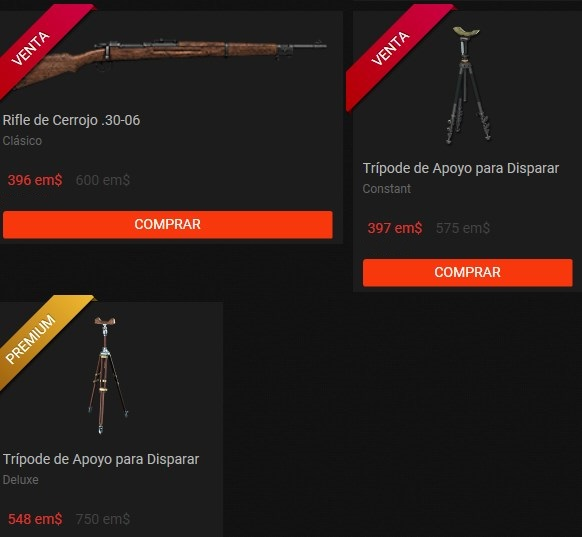 OFERTA TIENDA 01 NOV 2017 : Rifles Clásicos + miras y Tripode Apoyo armas Rifles11