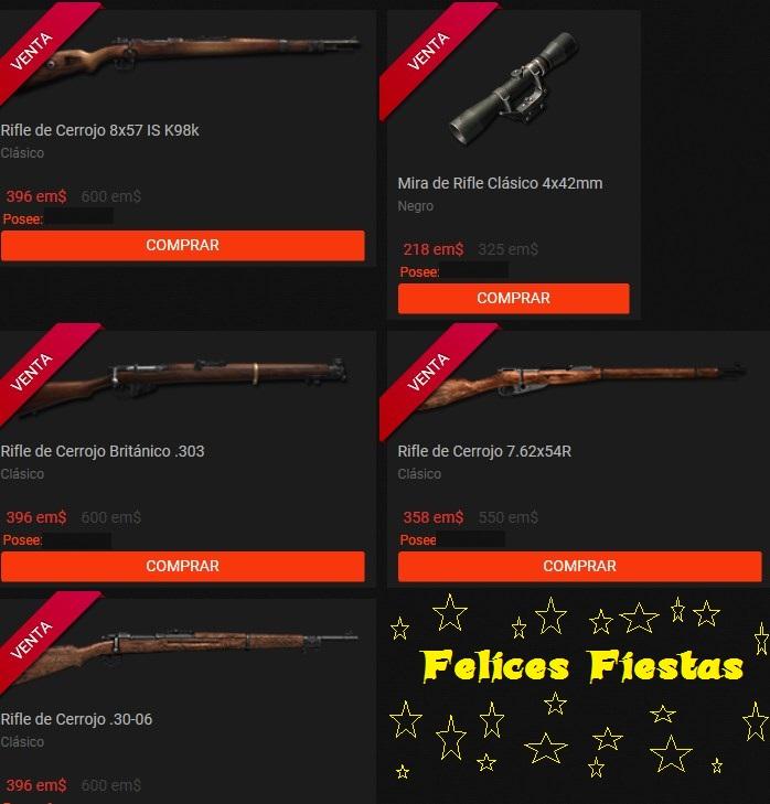 OFERTA EN TIENDA 21 DIC 2017: RIFLES CLÁSICOS Rifles12