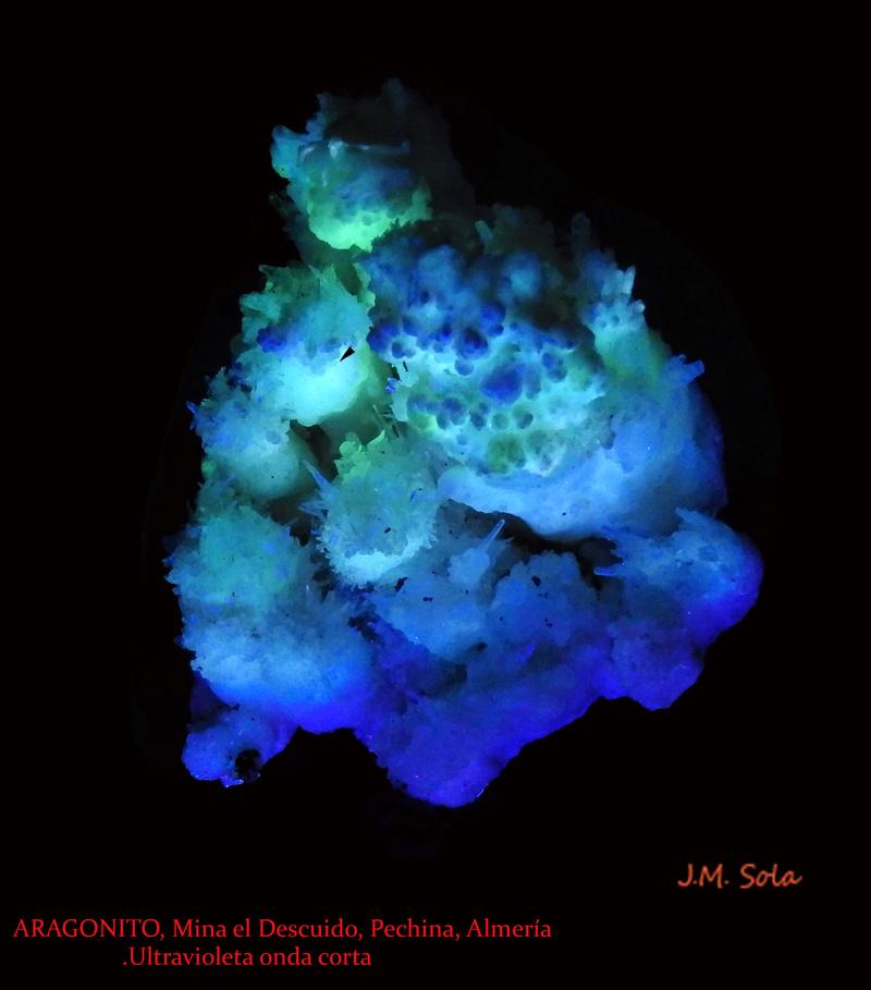 Fotos de minerales fluorescentes Aragon14