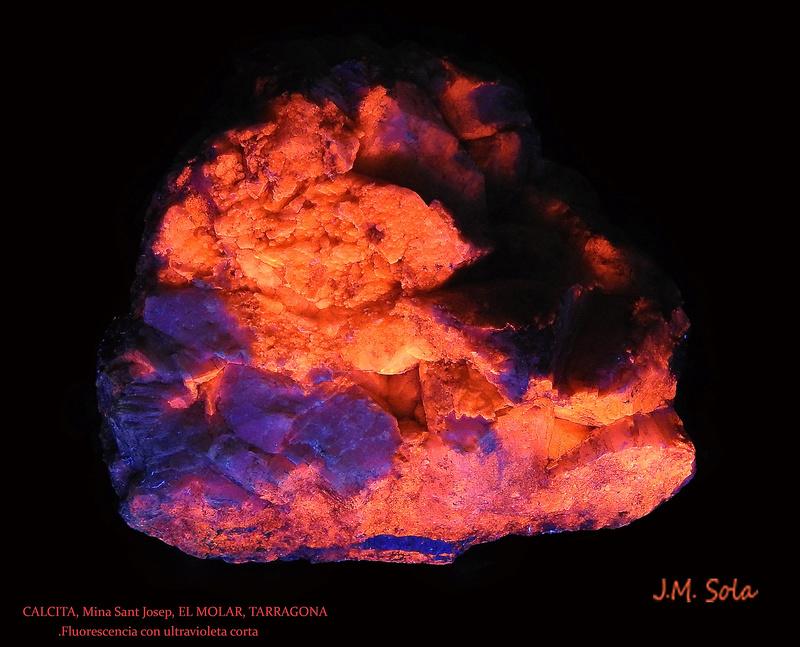 Fotos de minerales fluorescentes Calcit11