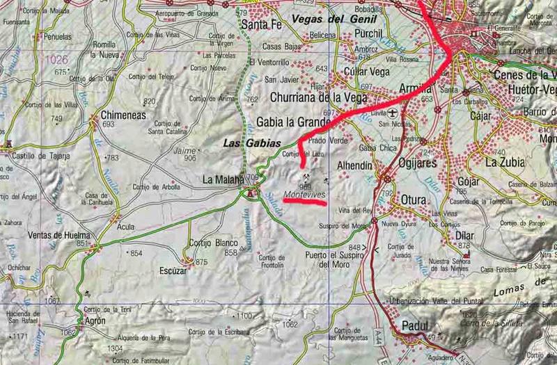 MINA AURORA, MONTEVIVES, LA MALAHÁ/ALHENDÍN (Granada) Plano010