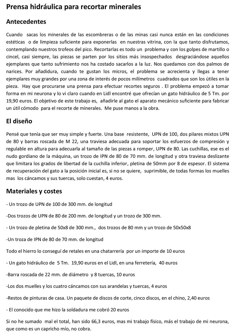 Prensa para cortar minerales Prensa10