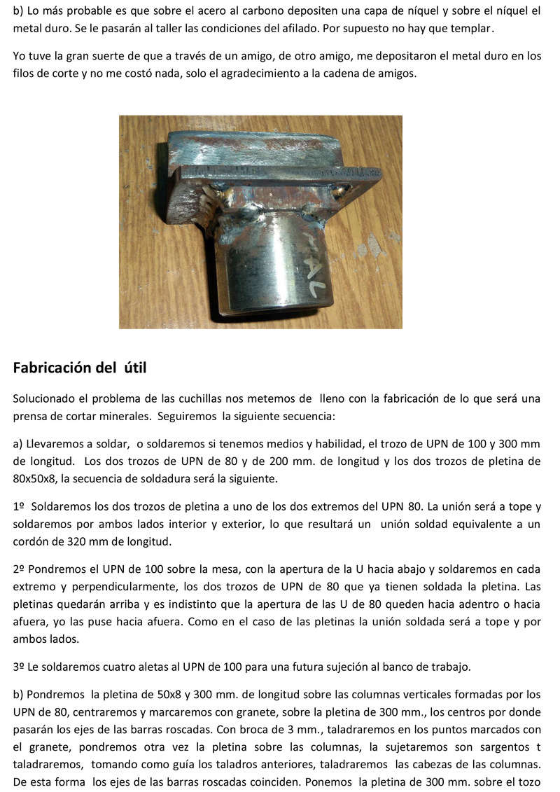 Prensa para cortar minerales Prensa14
