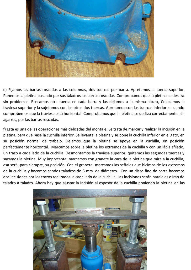 Prensa para cortar minerales Prensa16
