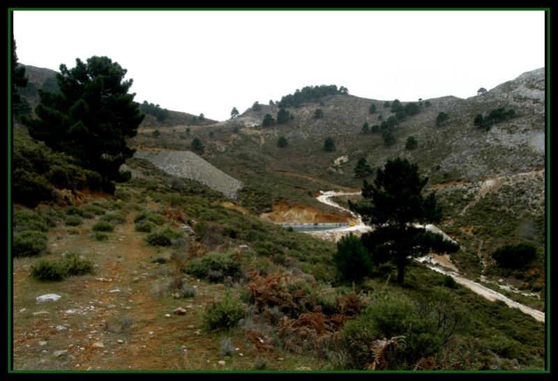 MINAS DEL ROBLEDAL – IGUALEJA (Málaga)  LUDWIGITA/LUDWIGITE Rob610