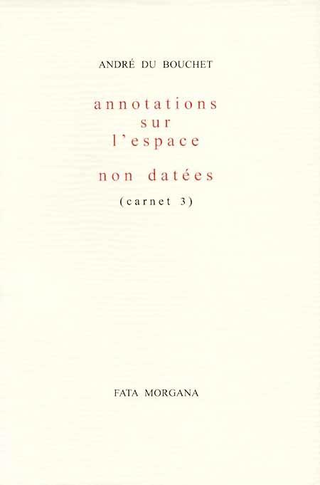 poésie - André du Bouchet Carnet10