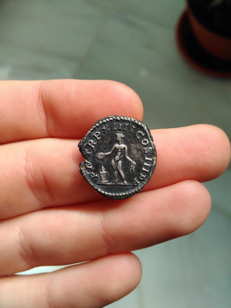Denario de Septimio Severo. P M TR P XIIII COS III P P. Genio a izq. Roma Img_2055