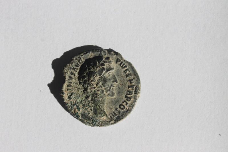 As de Antonino Pío. IMPERATOR II - ANCILIA - S C. Dos ancilias (escudos). Roma. Img_9936