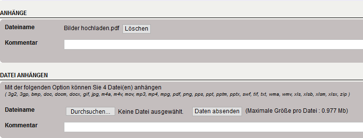 Dateien Upload und Download Upload14