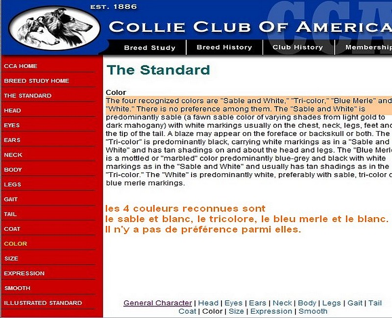 Aspects administratifs et standards. Colley10