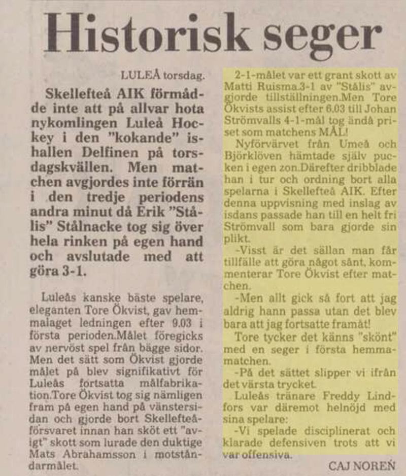 Minnesvärda Luleå Hockey stunder 0aa21b10