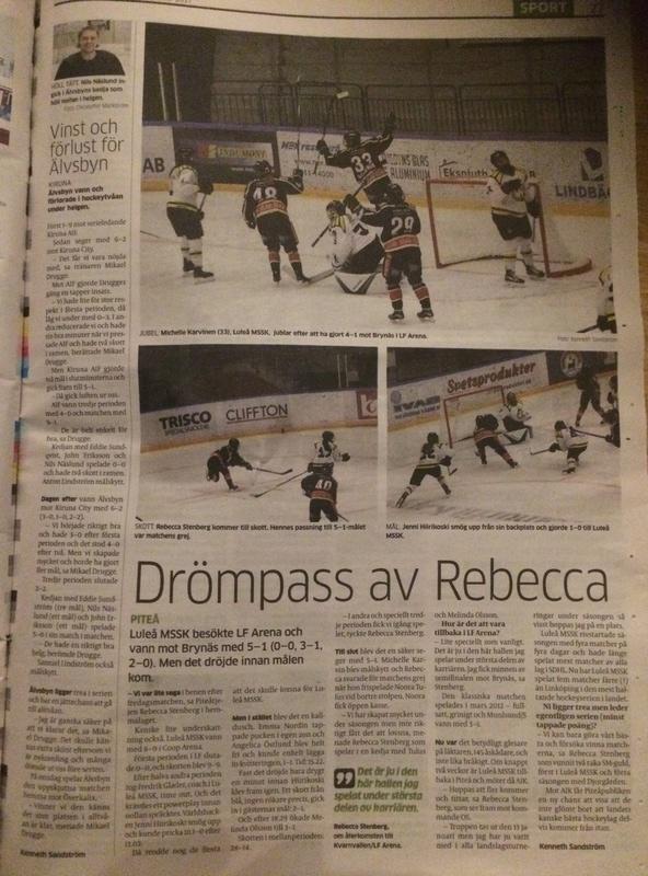 Matchtråd Luleå Hockey damer 2017/2018 0e556310