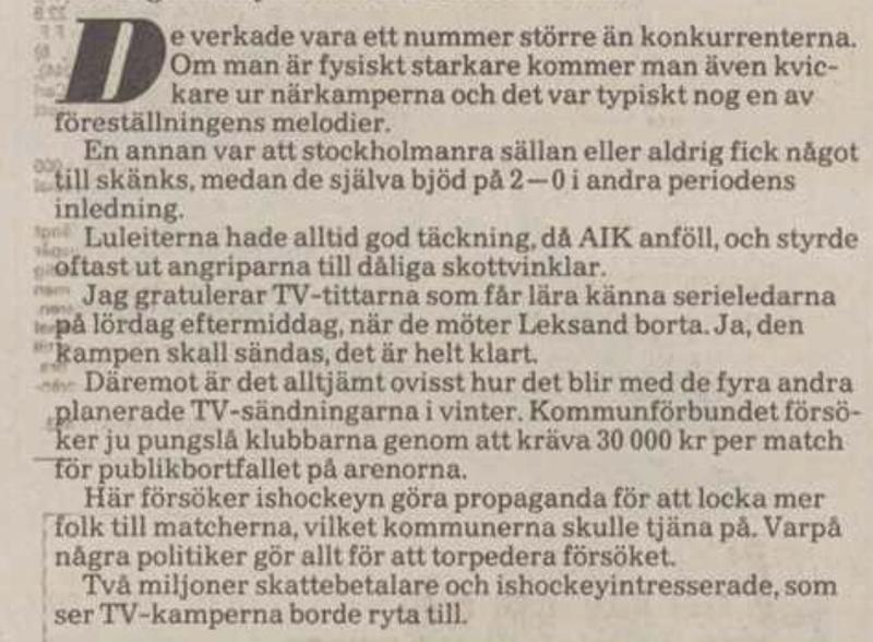 Minnesvärda Luleå Hockey stunder B21e9710
