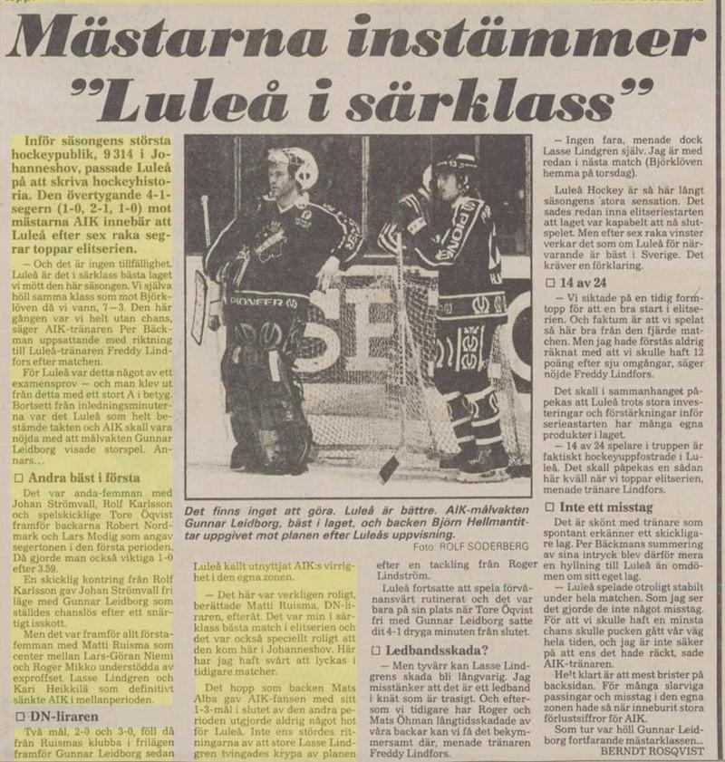 Minnesvärda Luleå Hockey stunder Db879810