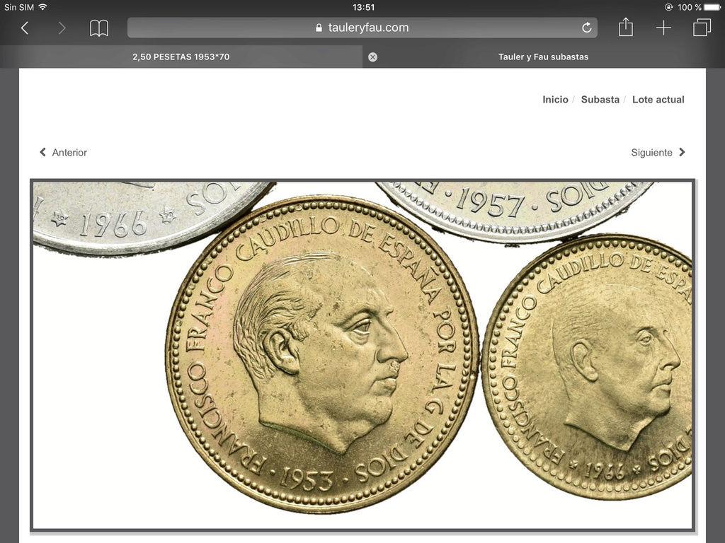2,50 pesetas 1953 (*19-70). Estado Español Img_0710