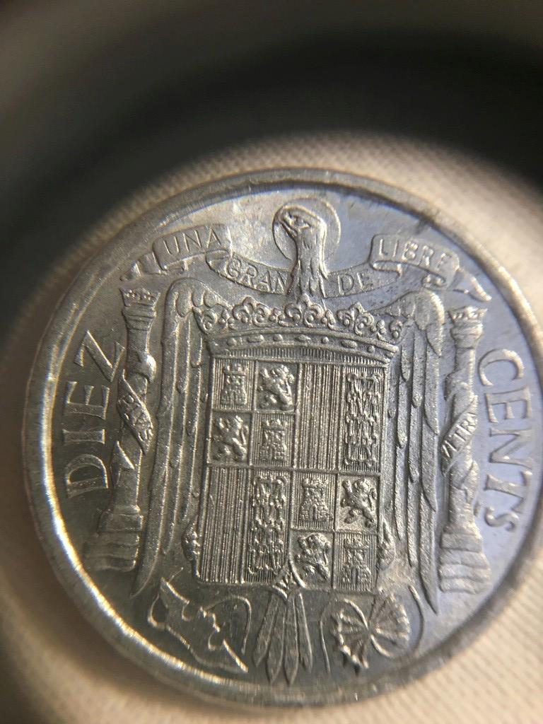 10 Céntimos 1940 Estado Español. Variante PLVS VLTRA Img_3821