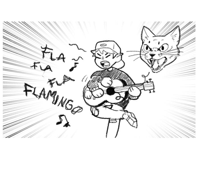 Voces de los personajes Miau10