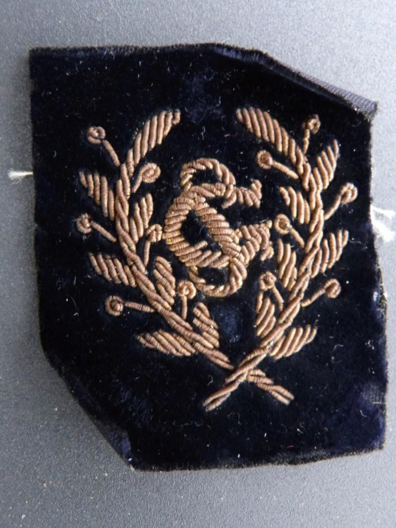 insigne brodé SG col lycéen collègien 1900 1930 P1200931