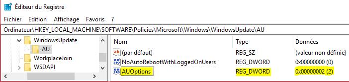Windows 10 : Soyez notifié des MAJs Windows Valeur10
