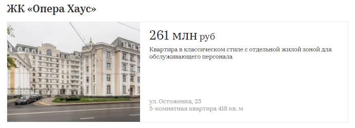 Сколько стоят квартиры в первых элитных домах Москвы   310