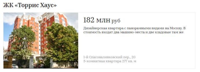 Сколько стоят квартиры в первых элитных домах Москвы   410
