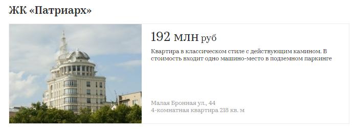 Сколько стоят квартиры в первых элитных домах Москвы   510