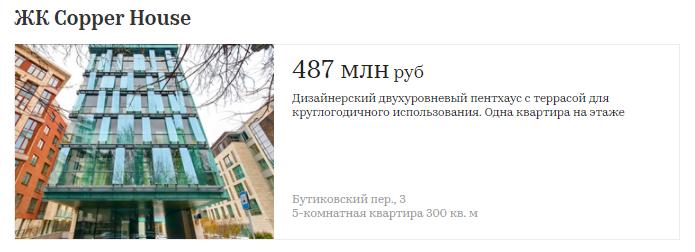 Сколько стоят квартиры в первых элитных домах Москвы   610